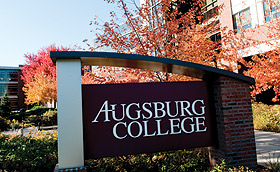 Photo of Augsburg sign