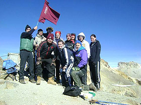 Picture of students on mountain
